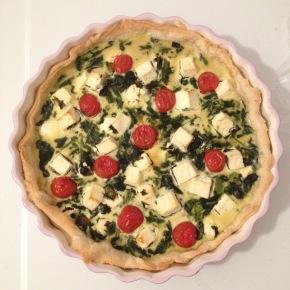 Küchen-Quickie: die Spinat-Feta-Quiche